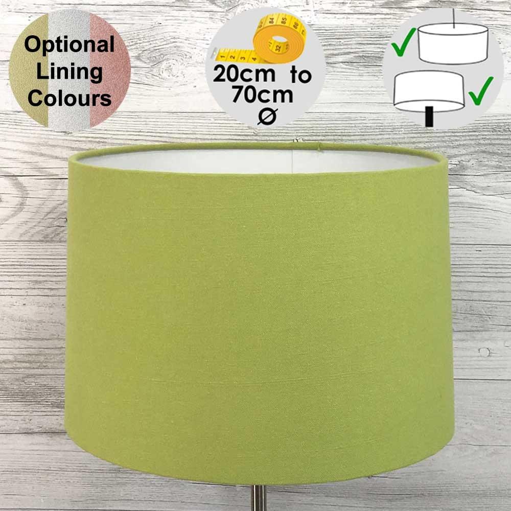 Aura Lime Green Drum Shade